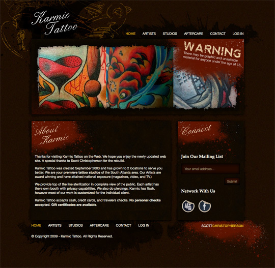 A great web design by Scott Christopherson, Atlanta, GA: