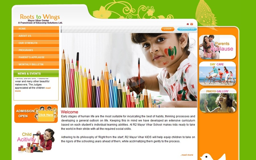 A great web design by AKS WebSoft Consulting Pvt. Ltd., New Delhi, India: