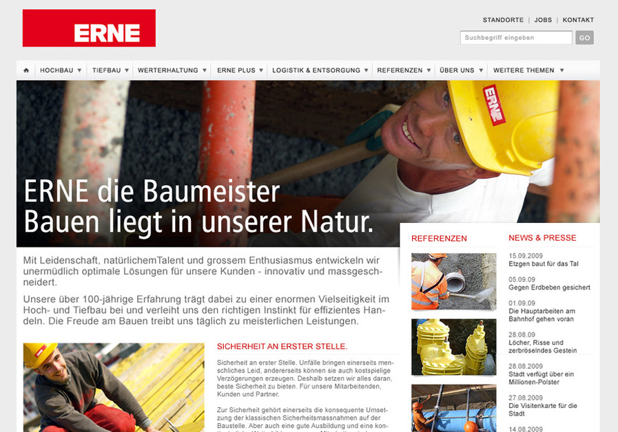 A great web design by Andreas Kuefer, Basel, Switzerland: