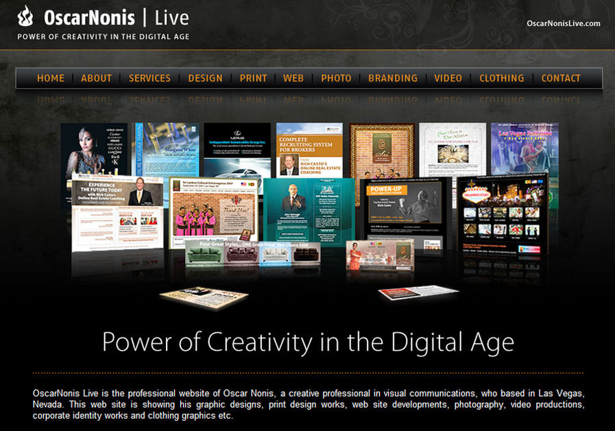 A great web design by OscarNonis Live, Las Vegas, NV: