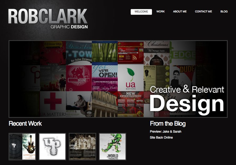 A great web design by Rob Clark Design, Huntsville, AL: