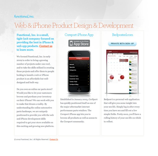 A great web design by Functional, Inc., Denver, CO: