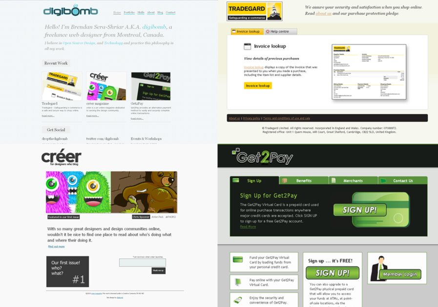 A great web design by Brendan Sera-Shriar a.k.a. digibomb, Montreal, Canada: