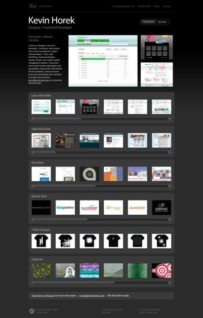 A great web design by Kevin Horek, Edmonton, Canada: