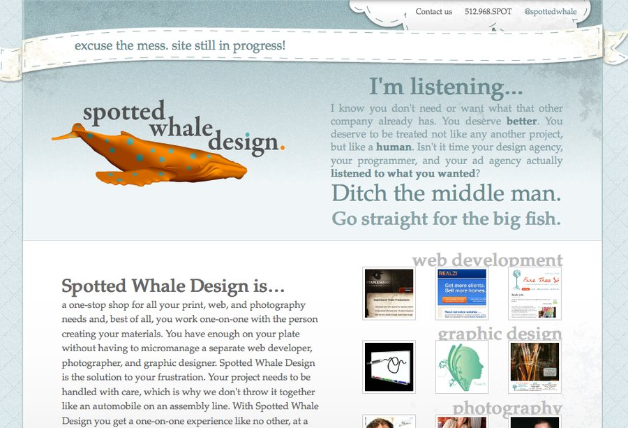 A great web design by Spotted Whale Design, Austin, TX: