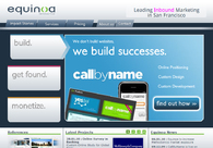 A great web design by Equinoa, San Francisco, CA: