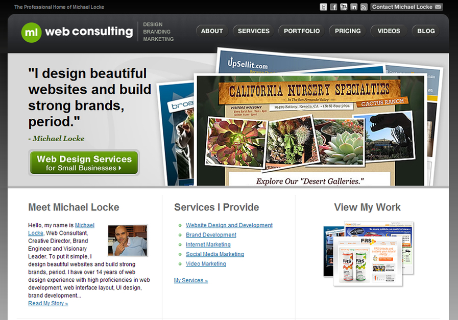 A great web design by ML Web Consulting, Los Angeles, CA: