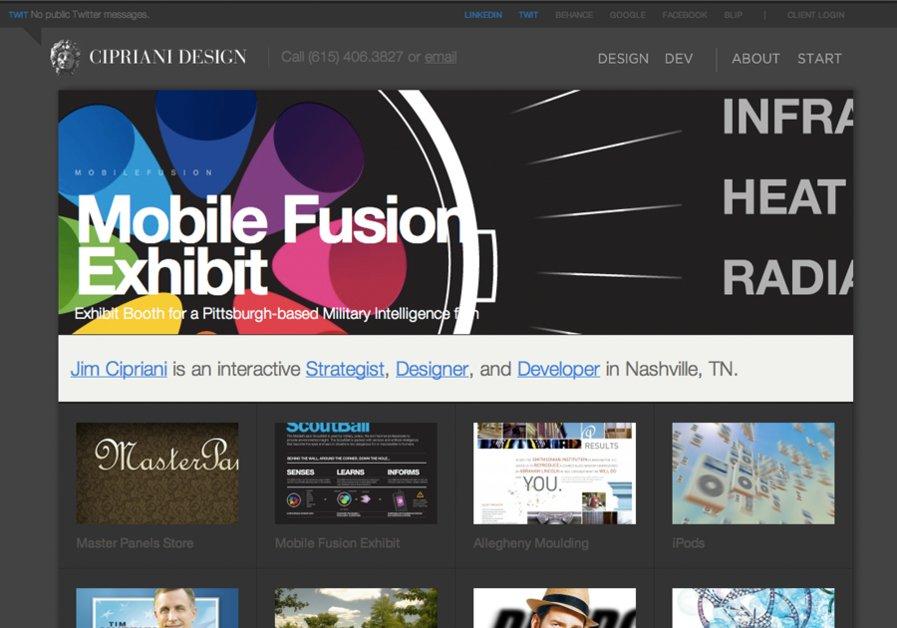 A great web design by Cipriani Design, Nashville, TN: