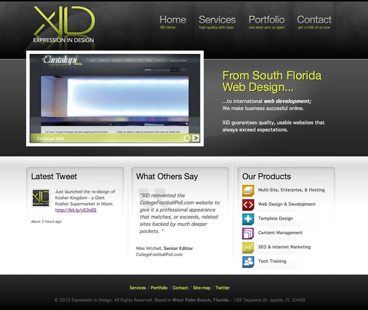 A great web design by (XiD) Expression in Design, West Palm Beach, FL: