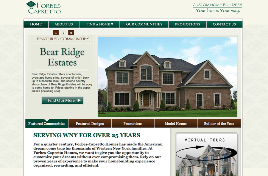 A great web design by Dyrect Media Group, Ltd., Buffalo, NY: