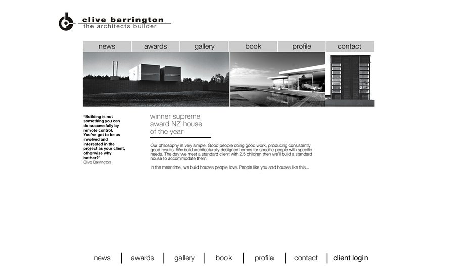 A great web design by Barrington Arch, Christchurch, New Zealand:
