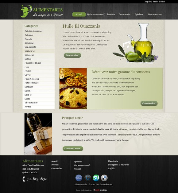 A great web design by Ecom Strategy, Montreal, Canada: