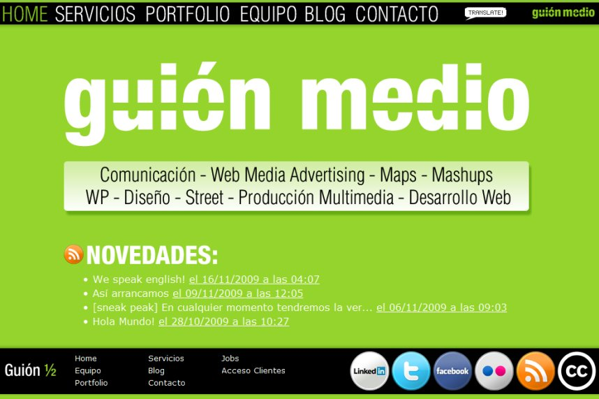 A great web design by Guión Medio, Parana, Argentina: