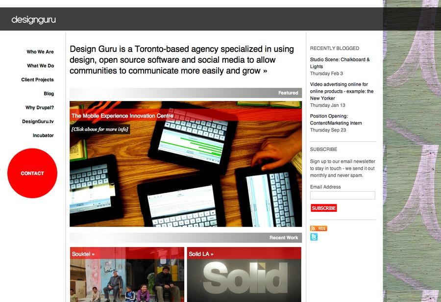 A great web design by designguru, Toronto, Canada: