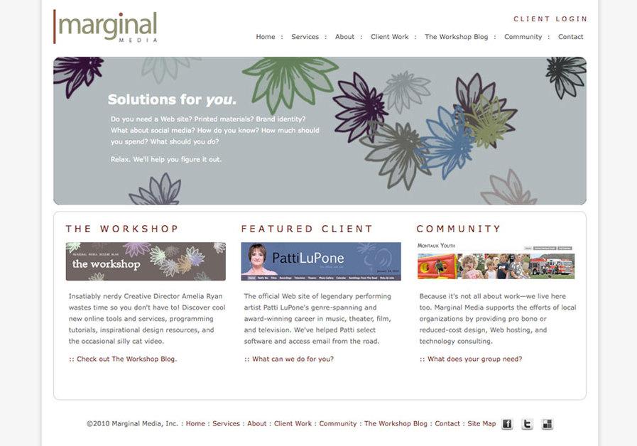 A great web design by Marginal Media, New York, NY:
