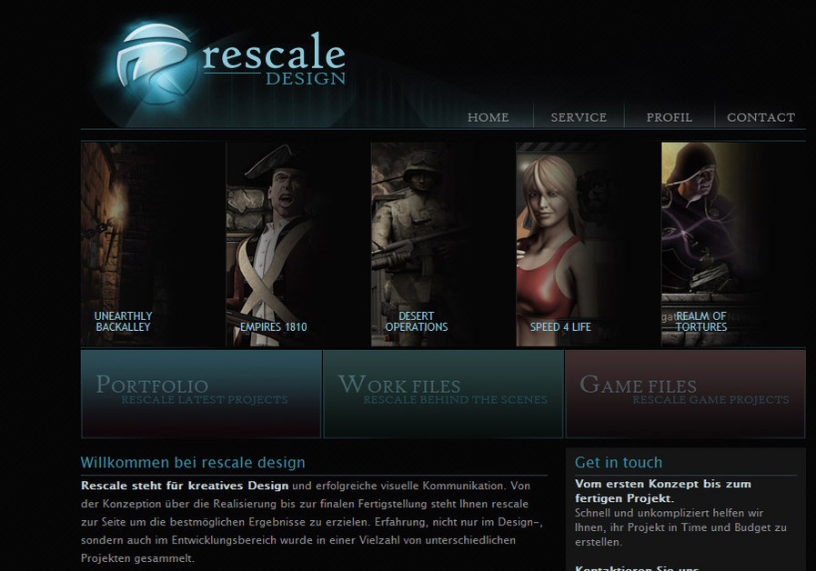 A great web design by rescale design, Cologne, Germany: