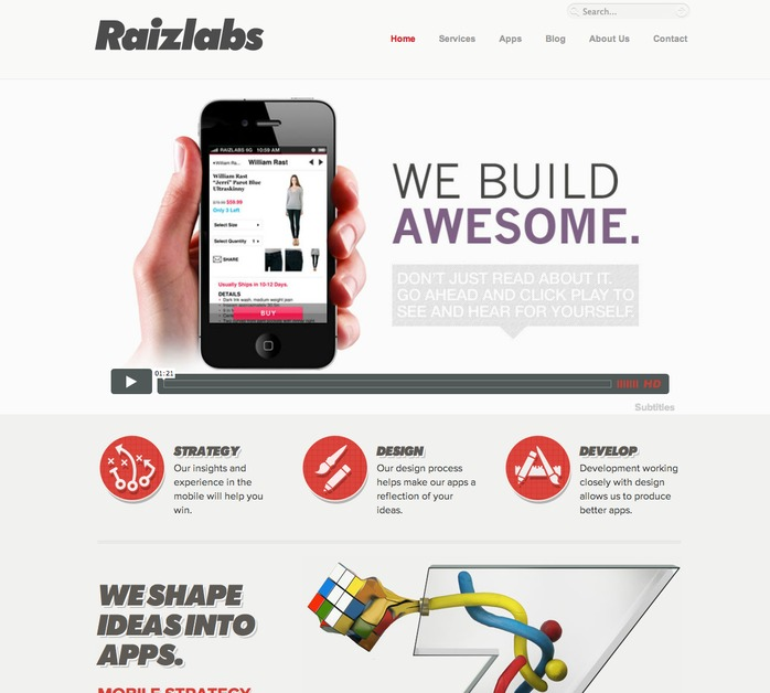 A great web design by Raizlabs, Boston, MA: