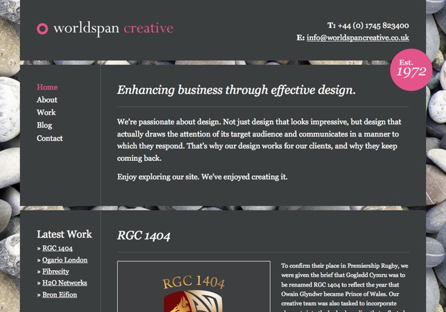 A great web design by Worldspan Creative, Cheshire, United Kingdom: