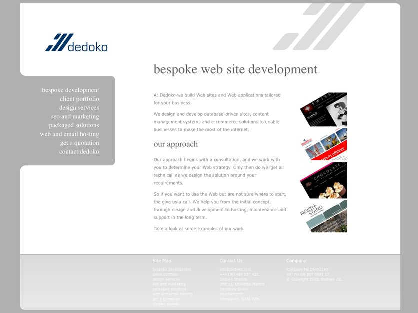 A great web design by Dedoko Ltd., Southampton, United Kingdom: