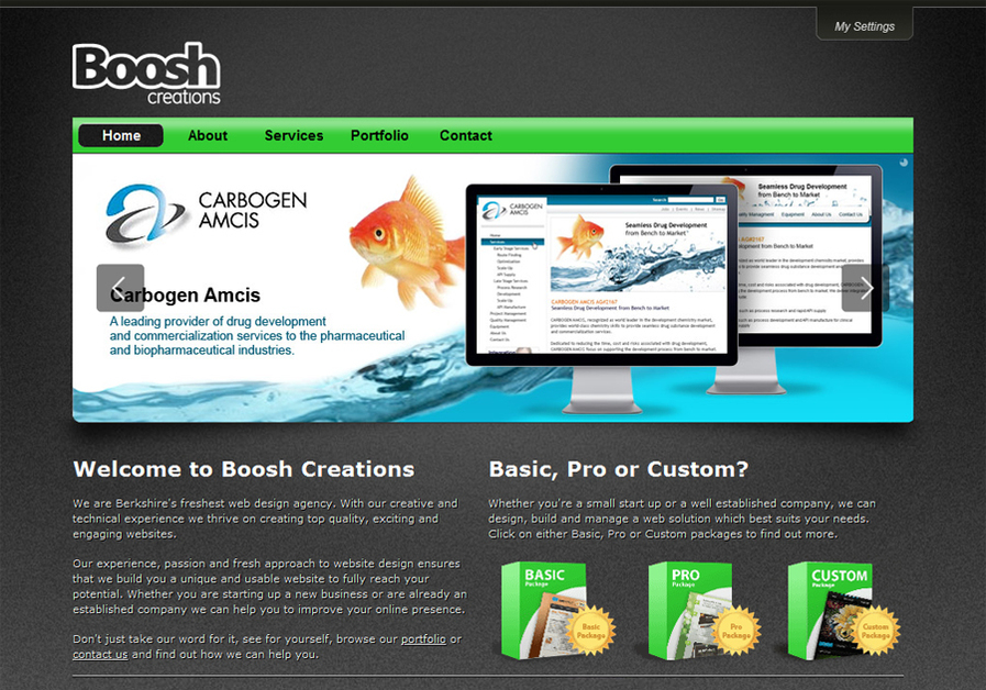 A great web design by Boosh Creations, London, United Kingdom: