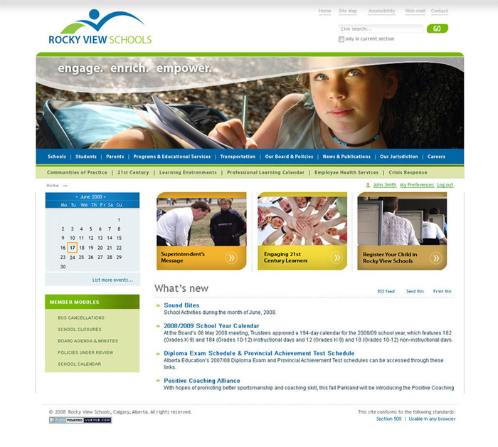 A great web design by Vurtur.com, Ottawa, Canada: