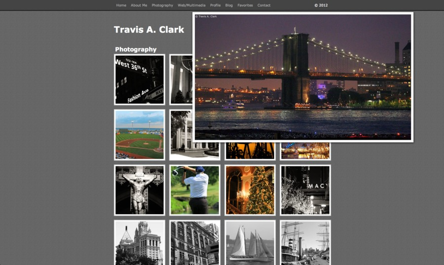A great web design by Travis A. Clark, Los Angeles, CA: