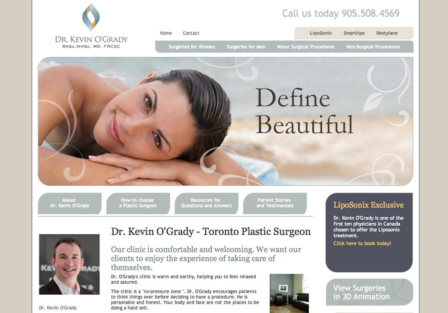 A great web design by Amalgam Design, Toronto, Canada: