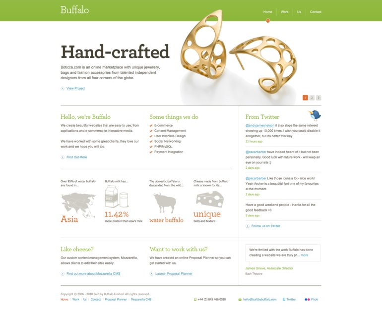 A great web design by Buffalo, London, United Kingdom: