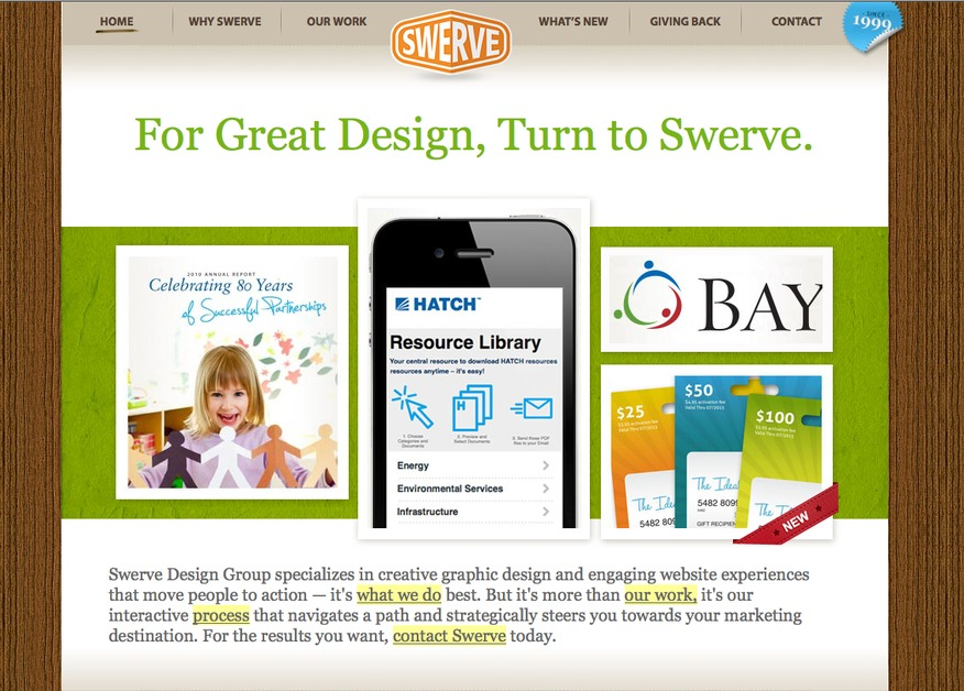 A great web design by Swerve Design Group Inc., Toronto, Canada:
