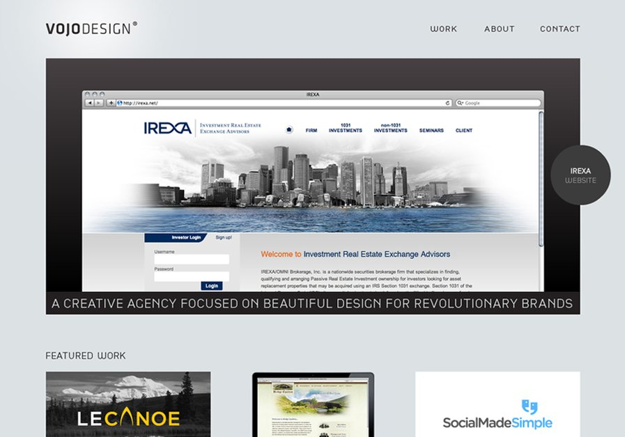 A great web design by VOJO Design, Salt Lake City, UT: