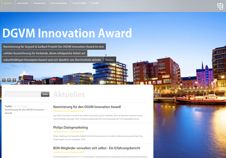 A great web design by Seyyedi & Gaillard, Hamburg, Germany: