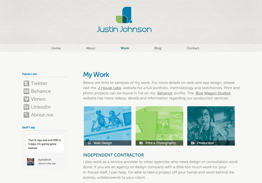 A great web design by Justin M. Johnson, LLC, Orlando, FL:
