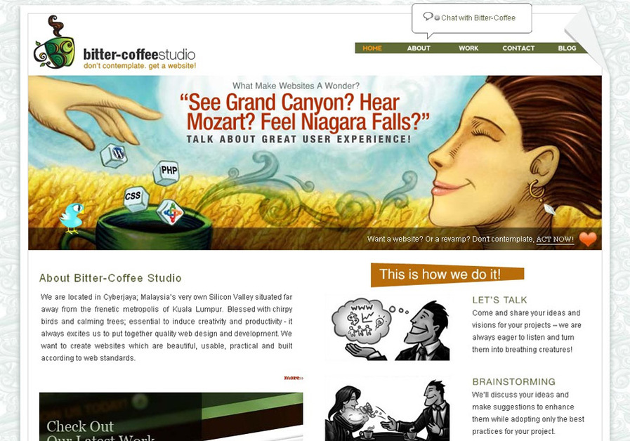 A great web design by Bitter-Coffee Studio, Cyberjaya, Malaysia: