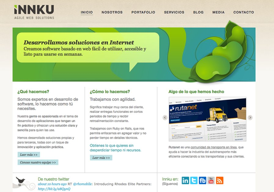 A great web design by Innku, Monterrey, Mexico: