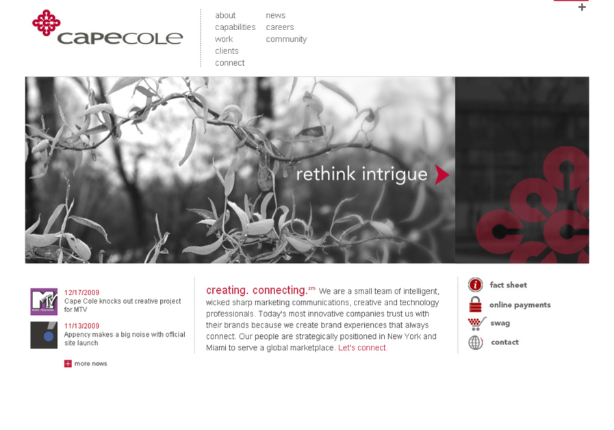 A great web design by Cape Cole, New York, NY: