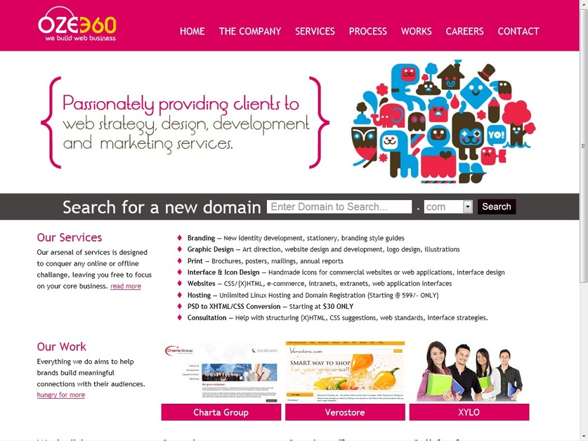 A great web design by www.oze360.com, New Delhi, India: