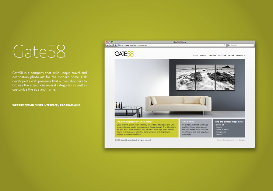 A great web design by Oak Studios, New York, NY: