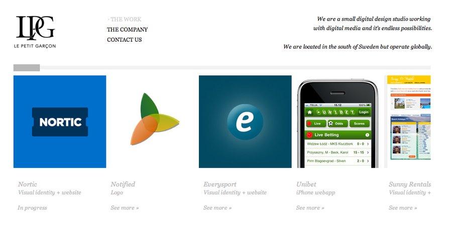 A great web design by Le Petit Garcon, Malmoe, Sweden: