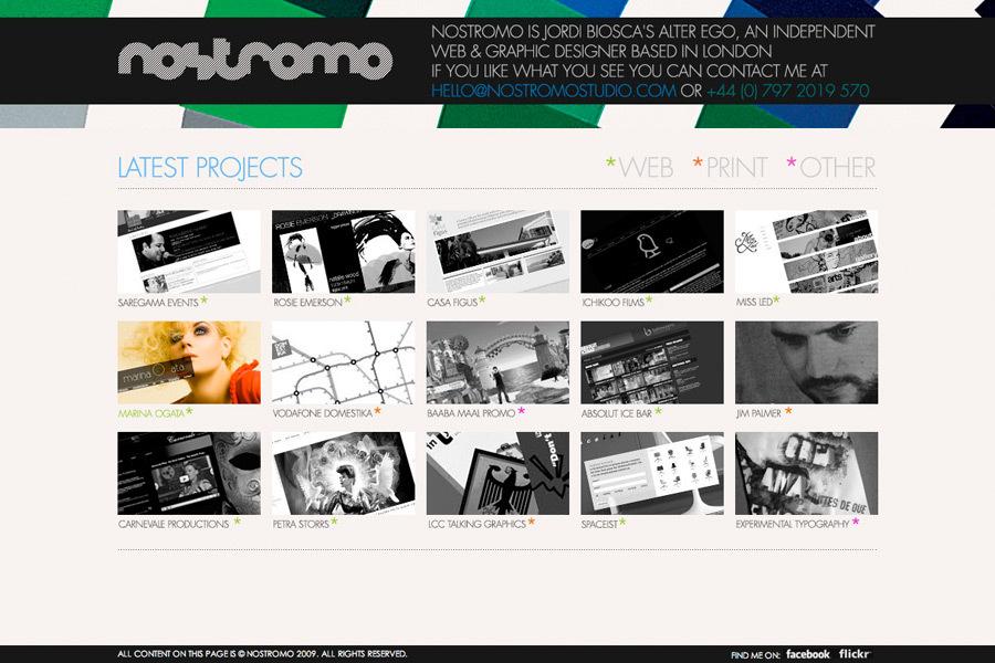 A great web design by nostromo studio, London, United Kingdom:
