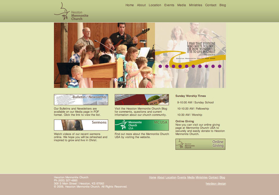 A great web design by Heydayv Design, Fish Creek, WI: