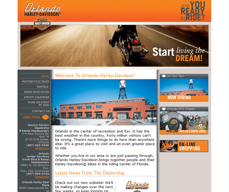 A great web design by WebSight Designs, Orlando, FL: