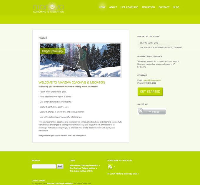 A great web design by Straydog Marketing + Design, Vancouver, Canada: