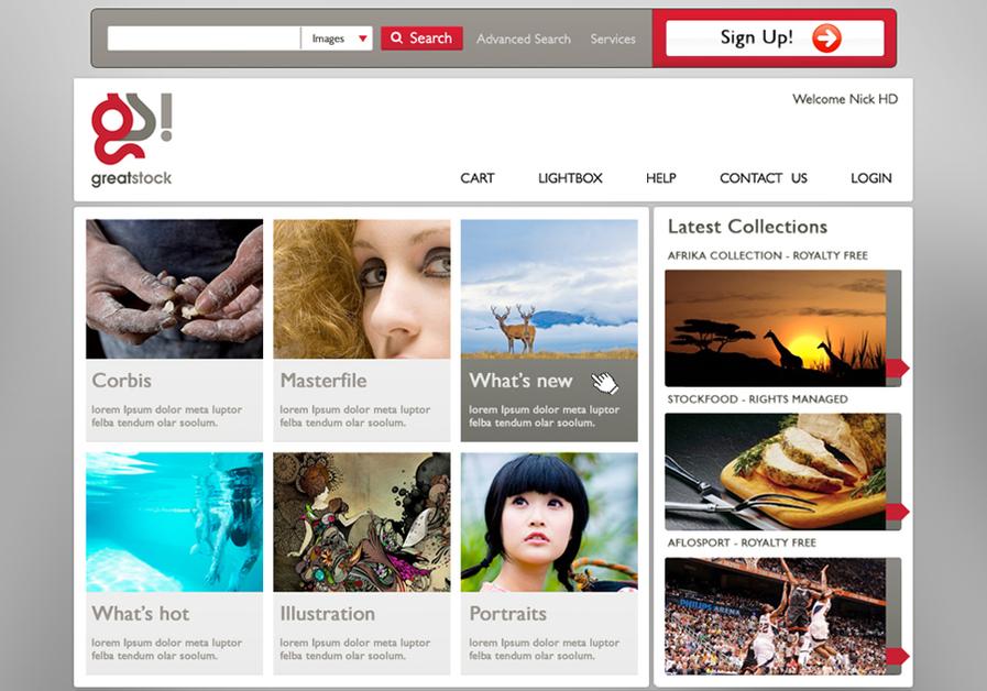 A great web design by Nick Hunt-Davis, Johannesburg, South Africa: