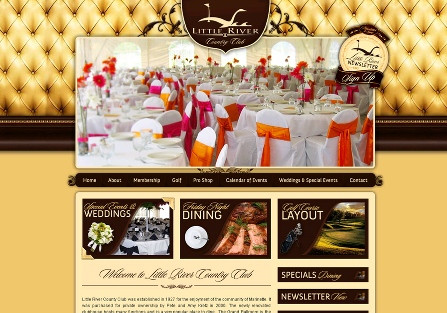 A great web design by CyberZone, Inc., Green Bay, WI: