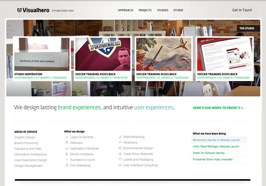 A great web design by Visualhero, Chicago, IL:
