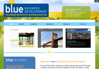 A great web design by blue Business Development, LLC, New York, NY: