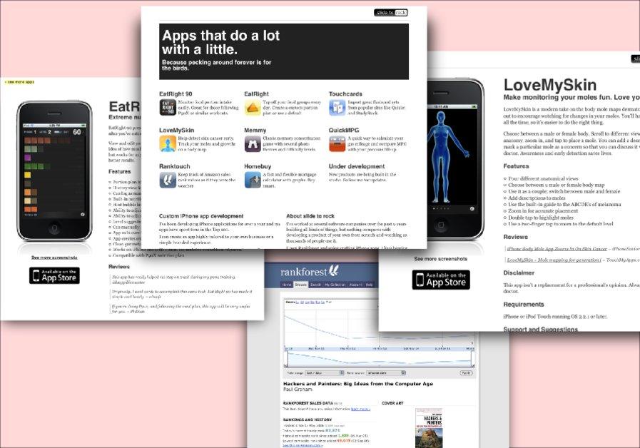 A great web design by (slide to [rock]), Atlanta, GA: