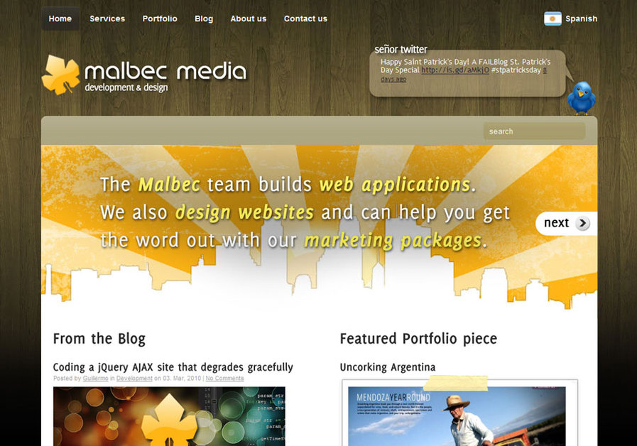 A great web design by Malbec Media, Mendoza, Argentina: