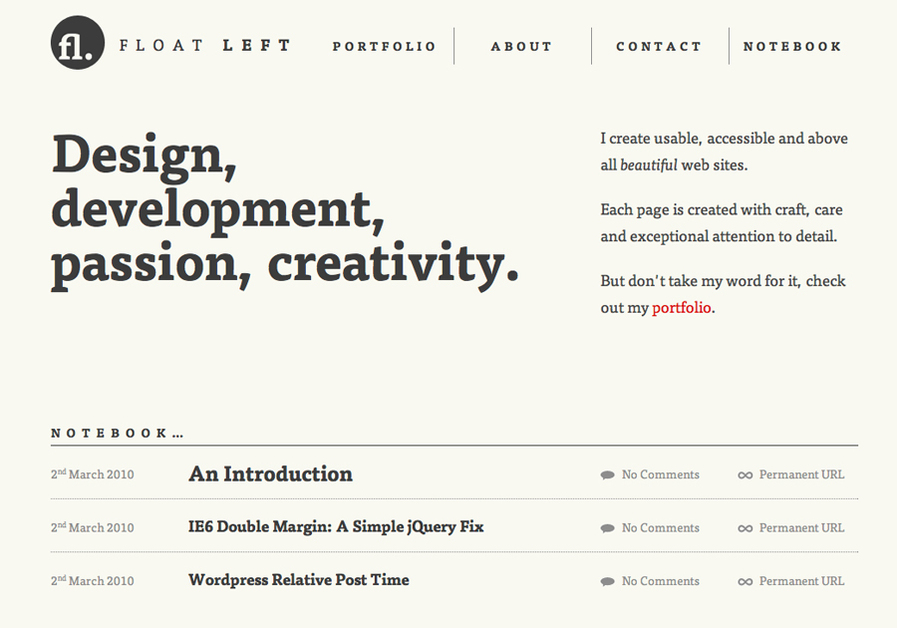 A great web design by Float Left, London, United Kingdom: