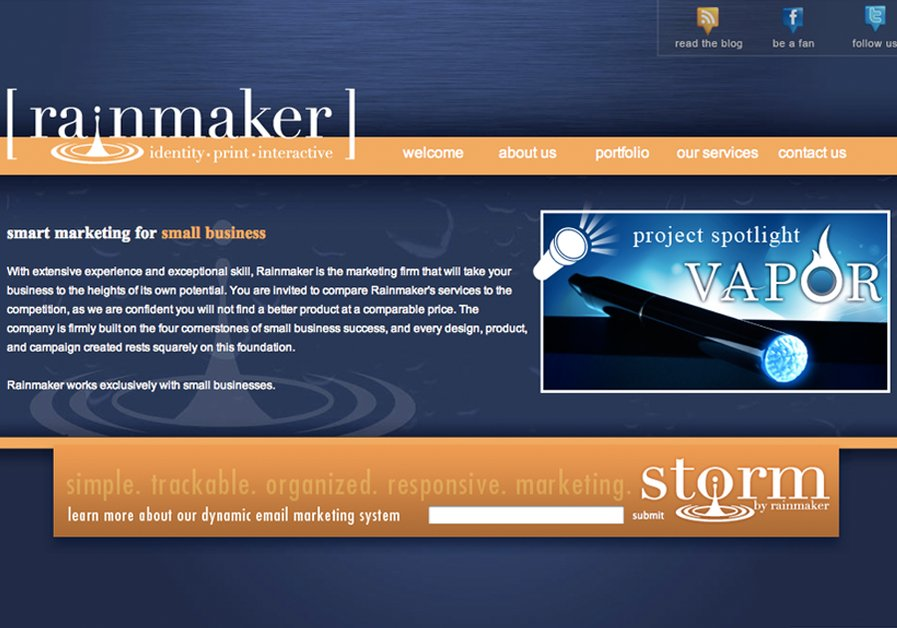 A great web design by Rainmaker, Spokane, WA: